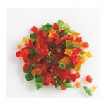 Cubes de fruits tricolores 6mm 1kg