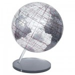 Globe en anglais Silver 30 cm Non lumineux sans mridien