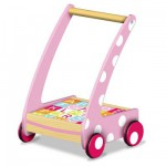 Chariot de Marche 20 cubes en bois : Rose
