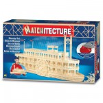 Maquette en allumettes : Matchitecture : Bateau du Mississippi