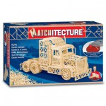 Maquette en allumettes : Matchitecture : Camion remorque