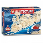 Maquette en allumettes : Matchitecture : Train de la rue vers l'or