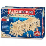 Streichholz-Puzzle 3D - Matchitecture : Feuerwehr-Leiterwagen