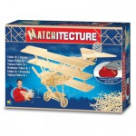 Streichholz-Puzzle 3D - Matchitecture : Fokker DR1 Dreidecker-Flugzeug
