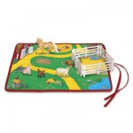 Tapis de jeu et figurines chevaux : Set de jeu Ferme Roll and Go