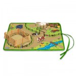 Tapis de jeu et figurines chevaux : Set de jeu Western Roll and Go