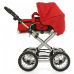 Poussette landau Combi pour poupes : Rouge
