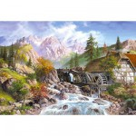 Puzzle 1000 pices - Moulin  eau