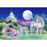 Puzzle 120 pices - La princesse et les licornes