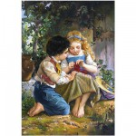 Puzzle 1500 pices : Emile Munier : Moment spcial