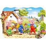 Puzzle 20 pices maxi : Les trois petits cochons