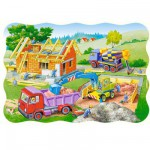 Puzzle 30 pices - Maison en construction