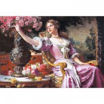 Puzzle 3000 pices - Czachorski : La femme  la robe pourpre