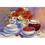 Puzzle 3000 pices - Goter fleuri