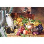 Puzzle 3000 pices - Josef Schuster : Nature morte fruits et perroquet