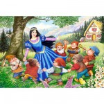 Puzzle 40 pices maxi : Blanche Neige et les sept nains