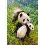 Puzzle 500 pices - Maman panda et son petit