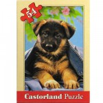 Puzzle 54 pices - Mini puzzle : Chiot bien dans son jean