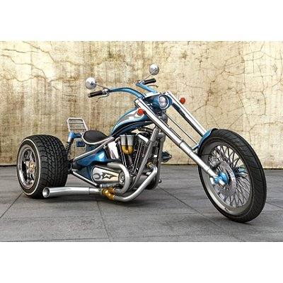 castorland puzzle 80 pi ces moto 3 roues trike bleu rue des puzzles. Black Bedroom Furniture Sets. Home Design Ideas