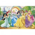 Jigsaw Puzzle - 350 Pieces : Disney Princesses and Butterflies
