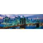 Puzzle 1000 pièces panoramique - New York : Pont de Brooklyn