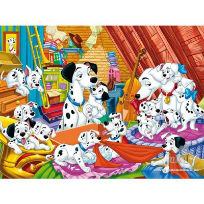 Puzzle 104 pices - Les 101 Dalmatiens : Quelle famille !