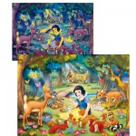 Puzzle 104 pices Magic light : Blanche neige