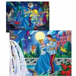 Puzzle 250 pièces Magic light : Cendrillon