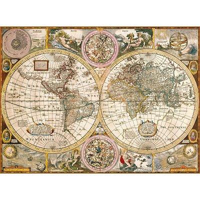 clementoni puzzle 3000 pi ces vieille carte du monde. Black Bedroom Furniture Sets. Home Design Ideas
