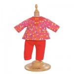 Ensemble Bébé Calin / Tidoo : 30 cm : Pantalon cerise