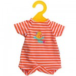 Ensemble Bébé Calin / Tidoo : 30 cm : Combinaison orange