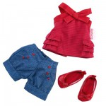 Ensemble poupée 33 cm : Short & Ballerines