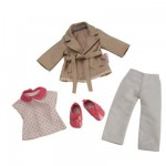 Ensemble poupe 33 cm : Trench, Jean & Derbies