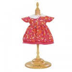 Ensemble poupes 36 cm : Robe cerise
