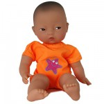 Les minis Bain de Corolle Asiatique : Tenue de bain orange avec toile de mer