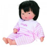 Les minis Yang de Corolle Bb asiatique : Pyjama ray rose et blanc