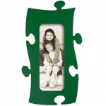 Cadre Puzzle en bois - 1 Photo 10 x 25 cm - Vert