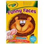 Album à colorier et gommettes Funny Faces : Lion