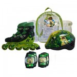 Sac avec rollers + 2 protections + casque Pointure 30/33 : Ben 10
