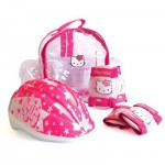 Set 2 protections + casque  Hello Kitty