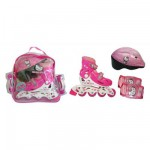 Sac Rollers en ligne T,1 + 2 protections + casque Pointure 30/33 : Hello Kitty