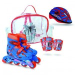 Sac Rollers T.2 + 2 protections + casque Pointure 34/37 : Spiderman