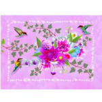 Kit de fabrication de cartes Petites cartes  pailleter : Colibri
