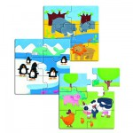 Puzzle 18 pices en bois - Premiers puzzles : Animaux & Co