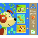 Puzzle 19 pices - 3 puzzles volutifs : Chiens 