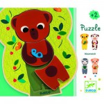 Puzzle 5 x 3 pices en bois : Mixamatch