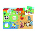 Puzzle 20 pices gant - Tactiloferme