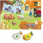 Puzzle interchangeable - Poils et plumes