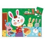 Puzzle silhouette : La tarte de maman lapin