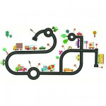 Removable Wall Stickers - On the Road